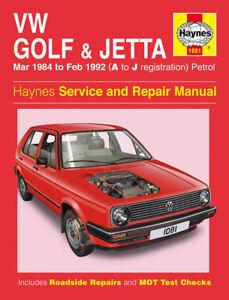 volkswagen vw golf jetta mk2 1984 92 haynes manual 1081 ebay rh ebay co uk vw jetta mk2 manual pdf vw jetta mk2 manual