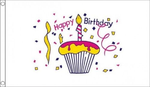 Happy Birthday Cake Party Banner 3/'x2/' Flag