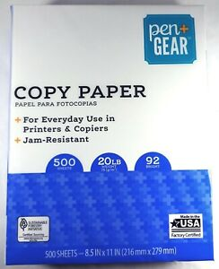 Pen Gear Copy Paper, Everyday Use, 20lb, 92 Bright White, 8.5 x 11 (500 Sheets)