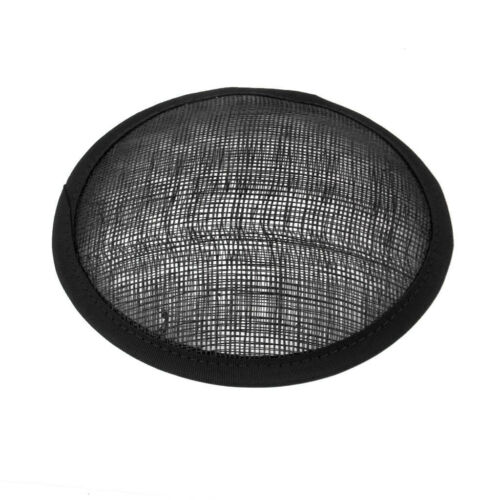 Black Round Sinamay Base 13cm for DIY Hat Headpieces Millinery Crafts