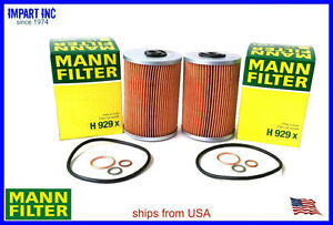 Mercedes Oil Filter 000 180 06 09 MANN H929x (2) Filters | eBay