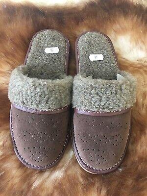 Warme Damenhausschuhe Pantoffeln Neu Schafwolle Gr.38