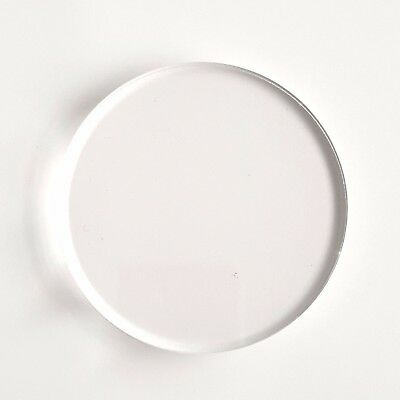 """ACRYLIC SHAPES 50 CLEAR  ACRYLIC CIRCLE KEYCHAINS 3/"""" BLANK DISCS 1//16/"""" THICK"""