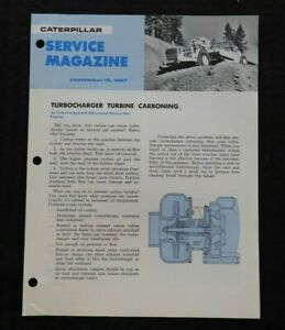 1967-Caterpillar-Turbolader-Turbine-Carboning-034-Service-Zeitschrift-cm-Broschuere