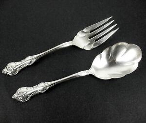 Meat-Serving-Fork-Berry-Spoon-International-Deep-Silver-Orleans-1964-vintage