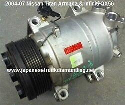 2004-07 Nissan Titan Armada AC Compressor Air Conditioner 926007S000
