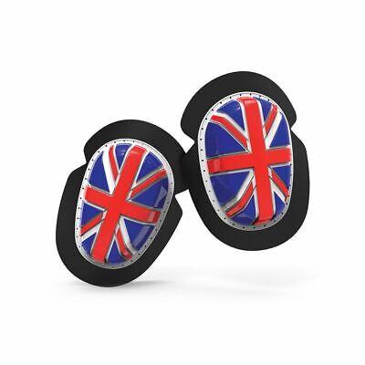 Bellissimo Oxford Ginocchio Cursori Union Jack Resistente Per Moto Lustro
