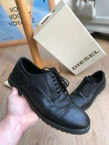 Chaussures de Ville Diesel Homme 43 Cuir Noir Derby Confortable Occasion Élégant
