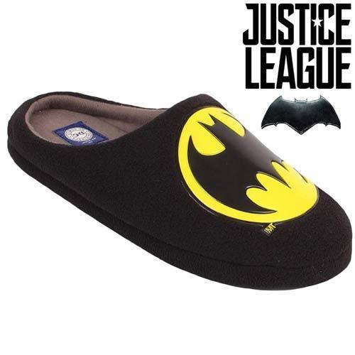 MENS JUSTICE LEAGUE DC COMIC BATMAN SLIPPERS WARM FLEECE LINED WINTER MULE SHOES