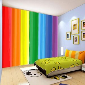 Color Notch Splicing 3D Full Wall Mural Photo Wallpaper Printing Home Kids Decor