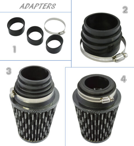 UNIVERSAL INDUCTION KIT WITH FILTER ADAPTERS CARBON//BLACK Honda