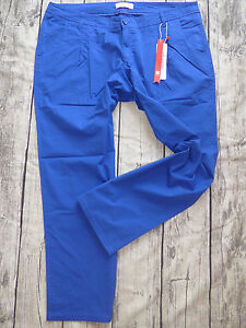 Sheego-Stoffhose-hose-Damen-Chino-Gr-40-bis-52-Normal-Long-Kurz-Groesse-Blau-322