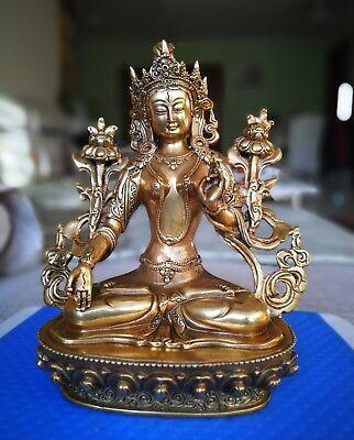 Tibetan Nepal Silk Embroidered thangka Tara Buddha buddhist Kuan Yin Guanyin F1