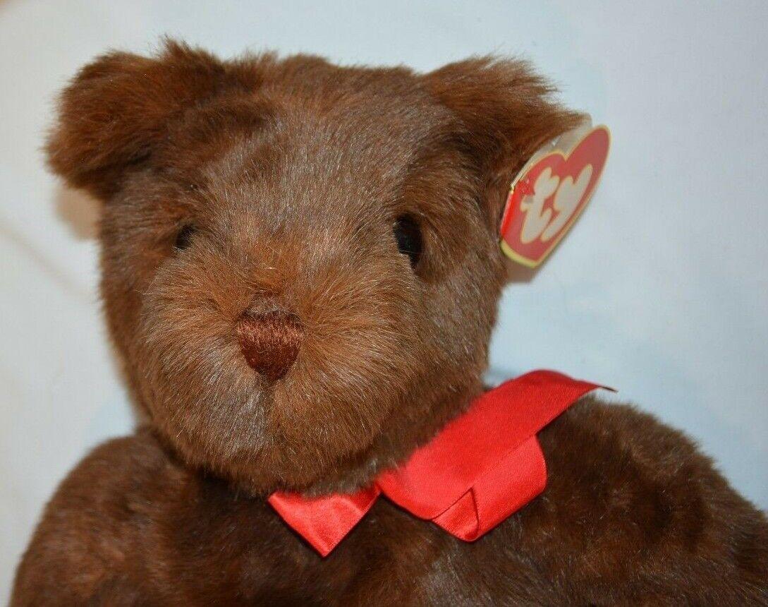TY PJ Classic Teddy Bear Plush Stuffed Animal Beanie Floppy Feet Vtg 90s Tags