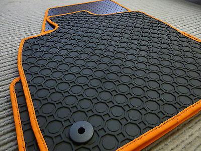 $$$ Original Lengenfelder Fußmatten für Volvo XC40 Maß Rand ORANGE NEU $$$