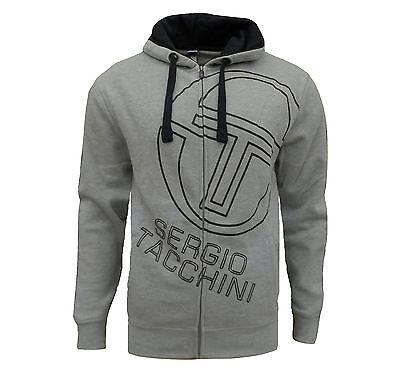 Sergio Tacchini Men's Johnson Fleece Full Zip Hoodie Grey