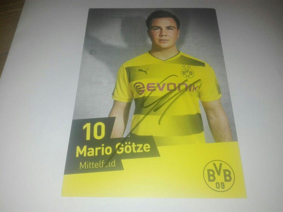 Autografer, Mario Götze autograf Borussia Dortmund