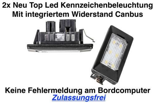 2x Top Led Module Number Plate Light Skoda Superb Estate 3t5 Adpn