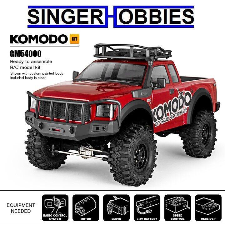 Gmade 1 10 KOMODO aventura off-road Camión Kit 4WD con GS01 chasis GMA54000 HRP