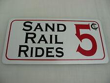 SAND RAIL RIDES 5 Cents Sign 4 Quads, ATV Off Road Trucks & Cars Dune Buggy