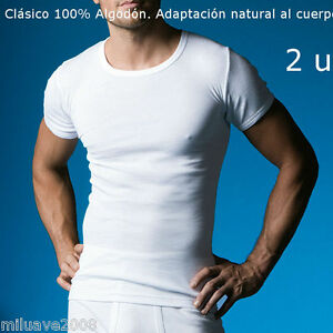 2-CAMISETAS-M-C-ABANDERADO-ALGODON-100-BLANCO-T-SHIRT-NATURAL-BODY-FIT
