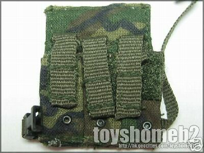 1//6 BBI NIGHT OPS NAVY SEAL WOODLAND M4 DROP LEG POUCH