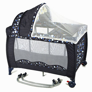 New-All-in-1-Deluxe-Baby-Portable-Travel-Cot-Portacot-Playpen-Crib-Bed-Bassinet