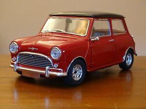 1/16 Mini Cooper S Marque I Solido Austin Morris Bmc Réservoirs Jumeaux Tartan Rouge 1/18