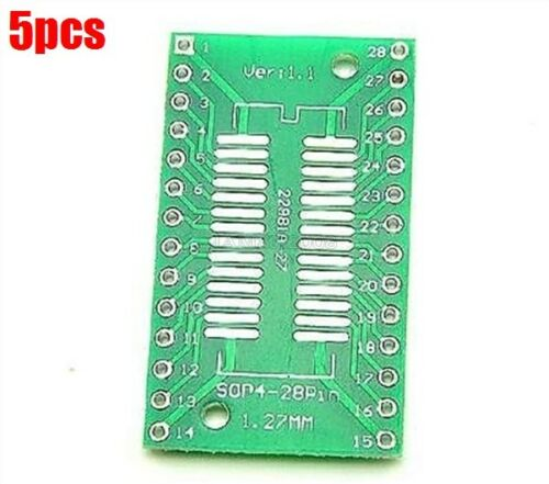 5 Stücke TSSOP28 // SSOP28 Zu DIP28 Pinboard Smd Zu Adapter 0,65 1,27MM tc