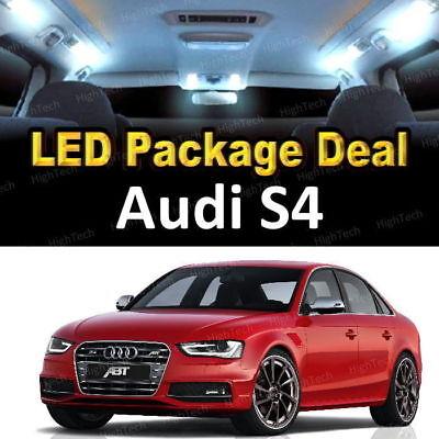 For 2013 2014 2015 2016 Audi S4 LED Lights Interior Package Kit WHITE 14PCS