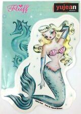Fluff Blonde Retro Pinup Mermaid Sticker//Decal