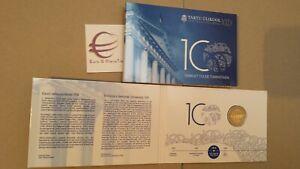 coin card 2 euro 2019 BU ESTONIA Universitas Tartu Eesti Estonie Estland Эстония