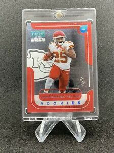 Clyde Edwards-Helaire Playoff Momentum Rookies Halo Platinum 1/1!! M-5. 1 of 1