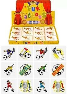 Kids Temporary Tattoo Party Idea Themed Party Bag Fillers 24 Football Tattoos