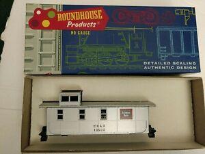 HO-scale-Athearn-Burlington-CB-amp-Q-modern-4-Window-caboose-Silver
