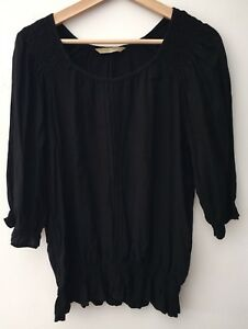 a55a856c54c7 Image is loading Ladies-Black-Top-Size-12-lt-NH10209