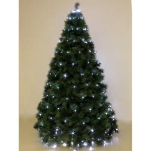 Albero Di Natale 4 Mt.Mantello 240 Luci A Led Bianco Ghiaccio Per Albero Di Natale 2 4 Mt Con 8 Giochi Ebay