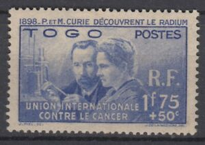 TOGO-PIERRE-amp-MARIE-CURIE-N-171-NEUF-GOMME-AVEC-CHARNIERE-TB-CENTRAGE