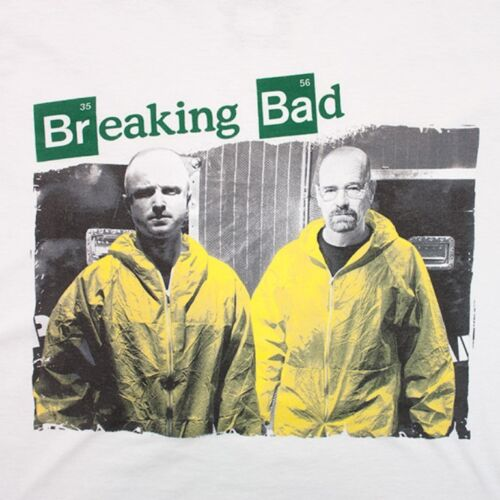 T-shirt Breaking Bad Walter /& Jesse in Yellow suits maglia Uomo ufficiale