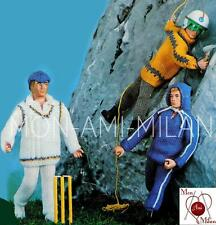 Knitting Pattern Copy ACTION MAN DOLLS CLOTHES CRICKET MOUNTAINEERING JOGGING