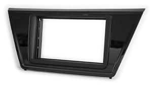 negro mate Carav 11-661 2-din autoradio radio diafragma para VW Touran 2015+