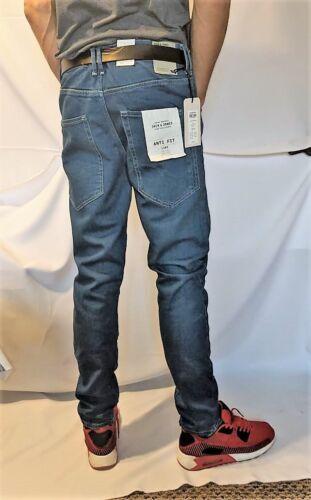 JACK And Jones da Uomo LUKE ECHO Anti Fit JOS 906 Jeans Blu Denim BNWT RRP £ 55.00