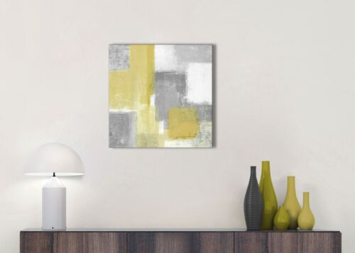 Mustard Yellow Grey Bathroom Canvas Accessories Abstract 1s367s 49cm