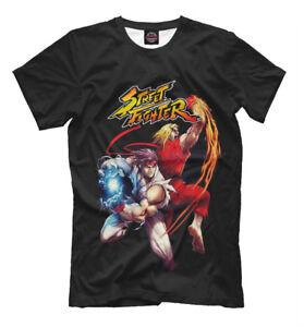 Street Fighter Alpha Ryu Ken Capcom White T Shirt Men Woman Unisex