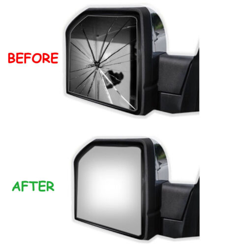 10-18 DODGE RAM 4000 4500 5000 700 Upper Tow Mirror Glass+Adhesive Right Side RH