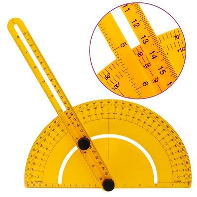 25cm 180° Plastic Protractor Angle Finder Measure Ruler Goniometer Template Tool