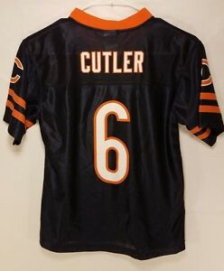 3b637119 Details about Chicago Bears JAY CUTLER NFL team Apparel Jersey Shirt YOUTH  KIDS BOYS L 10-12