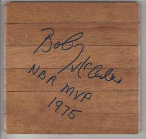 Bob McAdoo AUTOGRAPHED BASKETBALL FLOORBOARD SIGNED 1975 NBA MVP