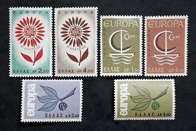 Griechenland Streng Briefmarke Griechenland/greece Yvert Und Tellier Europa 1964,65 Et 66 N Cyn27 Duftendes Aroma