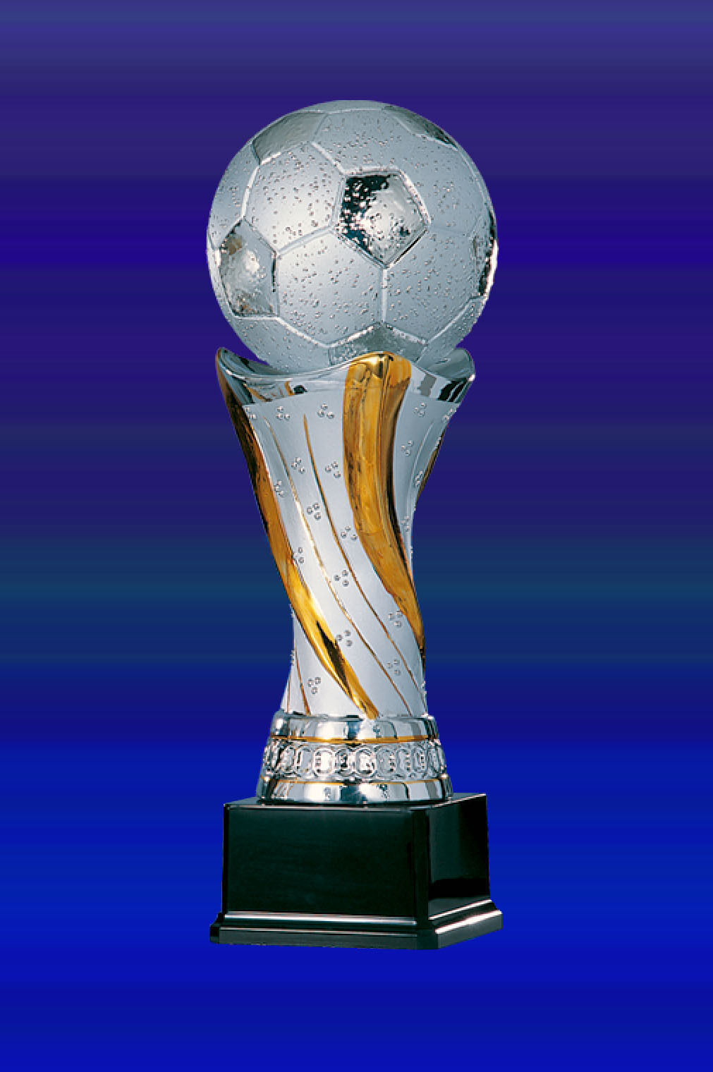 Edle Fußballtrophäe aus Keramik incl.Gravur (43cm hoch) hoch) hoch) 256e70